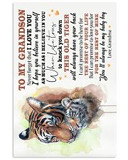 TO MY GRANDSON - I LOVE YOU 16x24 Poster front