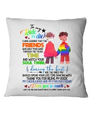 TO MY RIDE OR DIE Square Pillowcase thumbnail