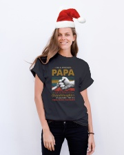 I'M A PROUD PAPA - OF A PRETTY GRANDDAUGHTER Classic T-Shirt lifestyle-holiday-crewneck-front-1