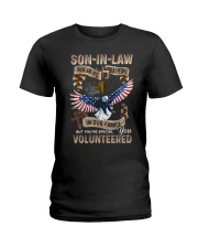 T-SHIRT - SON-IN-LAW - EAGLE - YOU VOLUNTEERED Ladies T-Shirt thumbnail
