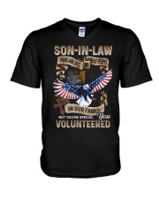 T-SHIRT - SON-IN-LAW - EAGLE - YOU VOLUNTEERED V-Neck T-Shirt thumbnail