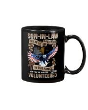 T-SHIRT - SON-IN-LAW - EAGLE - YOU VOLUNTEERED Mug thumbnail