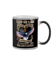 T-SHIRT - SON-IN-LAW - EAGLE - YOU VOLUNTEERED Color Changing Mug thumbnail
