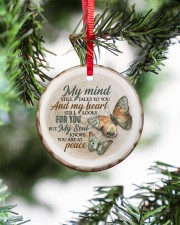 My Mind Still Talks To You - Butterfly Circle ornament - single (porcelain) aos-circle-ornament-single-porcelain-lifestyles-07