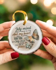 My Mind Still Talks To You - Butterfly Circle ornament - single (porcelain) aos-circle-ornament-single-porcelain-lifestyles-08