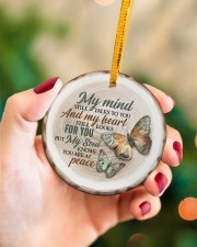 My Mind Still Talks To You - Butterfly Circle ornament - single (porcelain) aos-circle-ornament-single-porcelain-lifestyles-09