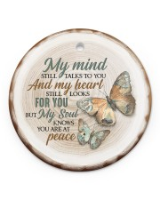 My Mind Still Talks To You - Butterfly Circle ornament - single (porcelain) front