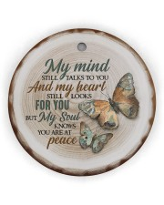 My Mind Still Talks To You - Butterfly Circle ornament - single (wood) thumbnail