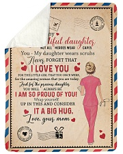 """To My Daughter - Nurse - Not All Heroes Wear Capes Large Sherpa Fleece Blanket - 60"""" x 80"""" thumbnail"""