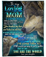 "DAUGHTER TO MOM Large Fleece Blanket - 60"" x 80"" front"