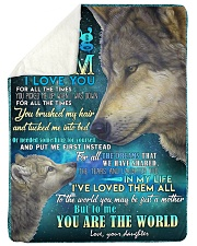 "DAUGHTER TO MOM Large Sherpa Fleece Blanket - 60"" x 80"" thumbnail"