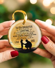 Never Forget That I Love You - Personalized Circle Circle ornament - single (porcelain) aos-circle-ornament-single-porcelain-lifestyles-08