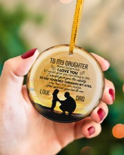 Never Forget That I Love You - Personalized Circle Circle ornament - single (porcelain) aos-circle-ornament-single-porcelain-lifestyles-09