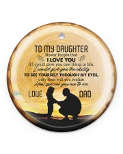 Never Forget That I Love You - Personalized Circle Circle ornament - single (porcelain) front