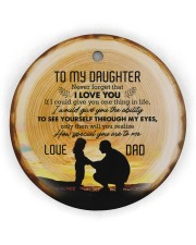 Never Forget That I Love You - Personalized Circle Circle Ornament (Wood tile
