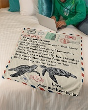 """Gifts for Son-in-law - Fleece Blanket  Small Fleece Blanket - 30"""" x 40"""" aos-coral-fleece-blanket-30x40-lifestyle-front-07"""