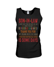 T-SHIRT - SON-IN-LAW - VINTAGE - CIRCUS Unisex Tank thumbnail