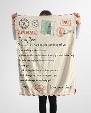 "Gift For Son - Fleece Blanket  Small Fleece Blanket - 30"" x 40"" aos-coral-fleece-blanket-30x40-lifestyle-front-14"