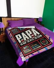 "PAPA Large Fleece Blanket - 60"" x 80"" aos-coral-fleece-blanket-60x80-lifestyle-front-01"
