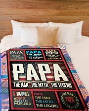 "PAPA Large Fleece Blanket - 60"" x 80"" aos-coral-fleece-blanket-60x80-lifestyle-front-02"