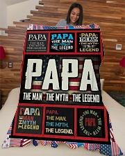 "PAPA Large Fleece Blanket - 60"" x 80"" aos-coral-fleece-blanket-60x80-lifestyle-front-04"