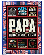 "PAPA Large Fleece Blanket - 60"" x 80"" front"