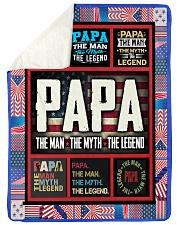 "PAPA Large Sherpa Fleece Blanket - 60"" x 80"" thumbnail"
