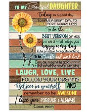 TO DAUGHTER - SUNFLOWER - ALWAYS 16x24 Poster front