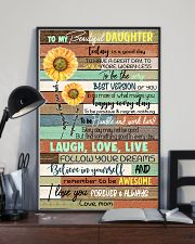 TO DAUGHTER - SUNFLOWER - ALWAYS 16x24 Poster lifestyle-poster-2