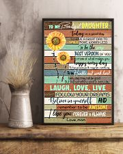 TO DAUGHTER - SUNFLOWER - ALWAYS 16x24 Poster lifestyle-poster-3
