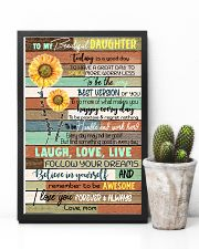 TO DAUGHTER - SUNFLOWER - ALWAYS 16x24 Poster lifestyle-poster-8