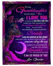 To Granddaughter - I Am So Proud Of You  Fleece Blanket tile