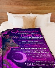 """To Granddaughter - I Am So Proud Of You  Large Fleece Blanket - 60"""" x 80"""" aos-coral-fleece-blanket-60x80-lifestyle-front-02"""