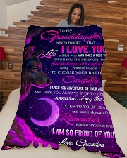 """To Granddaughter - I Am So Proud Of You  Large Fleece Blanket - 60"""" x 80"""" aos-coral-fleece-blanket-60x80-lifestyle-front-04"""
