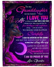 """To Granddaughter - I Am So Proud Of You  Large Fleece Blanket - 60"""" x 80"""" front"""