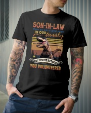 Son-in-law - Dinosaur - You Volunteered - T-Shirt Classic T-Shirt lifestyle-mens-crewneck-front-6