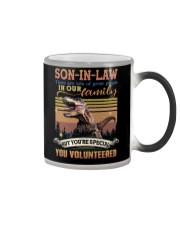 Son-in-law - Dinosaur - You Volunteered - T-Shirt Color Changing Mug thumbnail