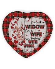 Angel Husband - Butterfly - I'm A Wife  Heart ornament - single (wood) thumbnail