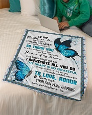 """TO MY MOTHER-IN-LAW - BUTTERFLY - THANK YOU Small Fleece Blanket - 30"""" x 40"""" aos-coral-fleece-blanket-30x40-lifestyle-front-07"""