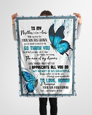 """TO MY MOTHER-IN-LAW - BUTTERFLY - THANK YOU Small Fleece Blanket - 30"""" x 40"""" aos-coral-fleece-blanket-30x40-lifestyle-front-14"""