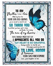 """TO MY MOTHER-IN-LAW - BUTTERFLY - THANK YOU Small Fleece Blanket - 30"""" x 40"""" front"""