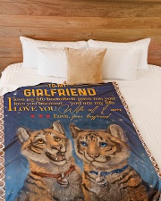 "TO MY GIRLFRIEND Large Fleece Blanket - 60"" x 80"" aos-coral-fleece-blanket-60x80-lifestyle-front-02"