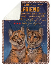 "TO MY GIRLFRIEND Large Sherpa Fleece Blanket - 60"" x 80"" thumbnail"