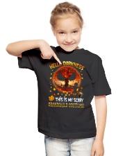 Grandma and Grandpa to Grandchild - Hello  Youth T-Shirt lifestyle-youth-tshirt-front-2