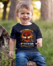 Grandma and Grandpa to Grandchild - Hello  Youth T-Shirt lifestyle-youth-tshirt-front-4
