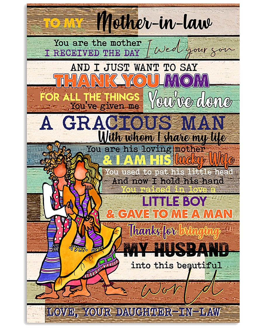 TO MY MOTHER-IN-LAW - HIPPIE - THANK YOU 16x24 Poster