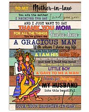 TO MY MOTHER-IN-LAW - HIPPIE - THANK YOU 16x24 Poster front
