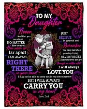 To Daughter - Hugging - Never Feel That You Fleece Blanket tile