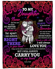 """To Daughter - Hugging - Never Feel That You Large Fleece Blanket - 60"""" x 80"""" front"""