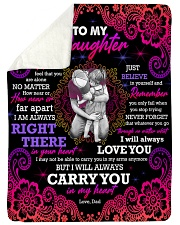 """To Daughter - Hugging - Never Feel That You Large Sherpa Fleece Blanket - 60"""" x 80"""" thumbnail"""